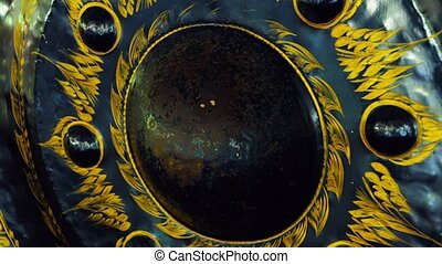 Hand Painted Gong at Wat Tham Kisap in Malaysia - FullHD...