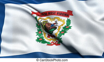 West Virginia state flag loop - Realistic West Virginia...