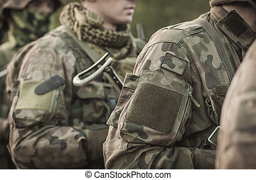 Army special forces - Soldiers in military uniform, army...