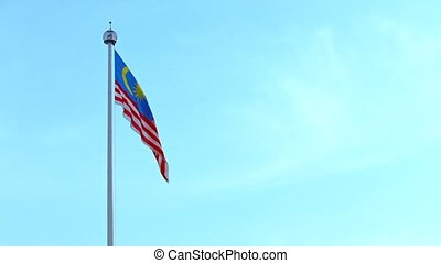 Malaysian National Flag, Waving in the Wind over Merdeka...