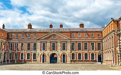 Upper Yard of Dublin Castle - Ireland