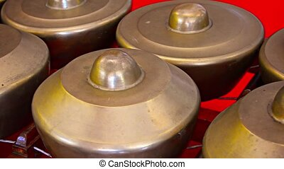 Gong Chimes, Traditional, Southeast Asian Folk Instruments -...