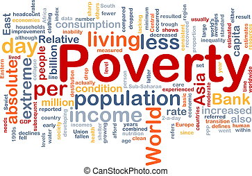 Poverty word cloud - Word cloud concept illustration of...