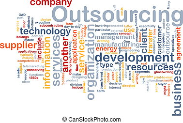 Outsourcing word cloud - Word cloud concept illustration of...