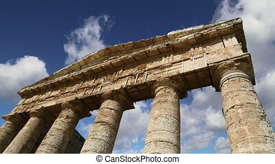 Temple at Segesta in Sicily - Classic Greek Doric Temple at...