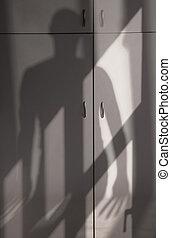 sombra, de, horror,