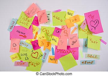 notes, de, les, jour,