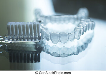 Invisible dental teeth brackets aligners retainers and...