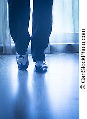 jambes, chaussures, Salle bal, danse, pieds, danseur, mâle,...