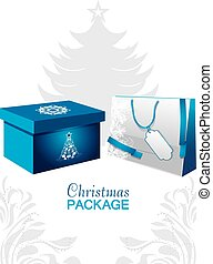 Christmas package.  illustration