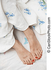 Blisters on feet - Woman feet with blisters Close-up poto