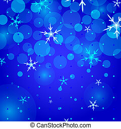 Snowflakes Christmas background - Snowflakes abstract...