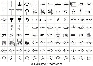 96 Electronic and Electric Symbol 1 - 96 Electronic and...