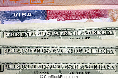 The American visa and US dollars