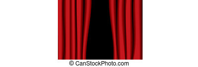 red theater curtain gap - Red theater curtains partly open...