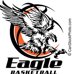 eagle basketball team design with tribal eagle inside...