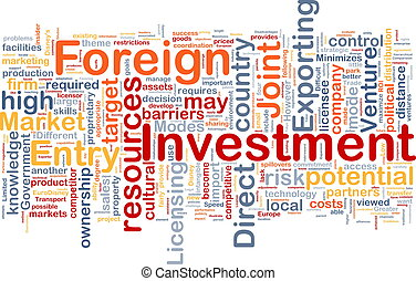 Foreign investment background concept - Background concept...