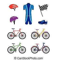 Bicycles and sports equipment.