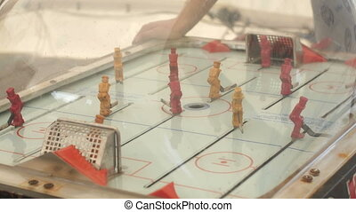 Oldschool toy table hockey game - Oldschool toy table hockey...