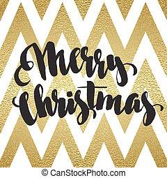 Merry Christmas glittering lettering design - Merry...