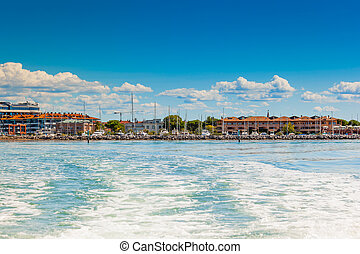 View of Grado Gorizia, Friuli Venezia Giulia, Italy - The...