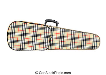 Violin case isolated on white background