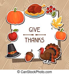 Happy Thanksgiving Day background design with holiday...