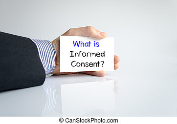 What is informed consent text concept