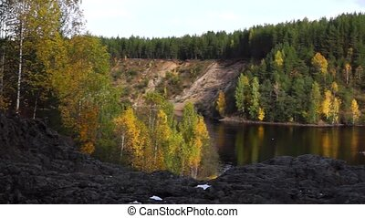 Panorama of river in forest - Panorama of Suna river in wild...