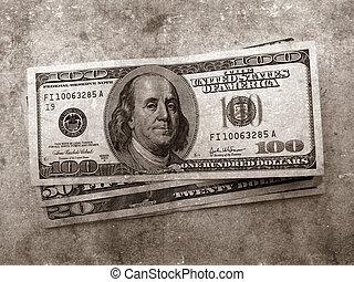US dollars - Close up of US dollars