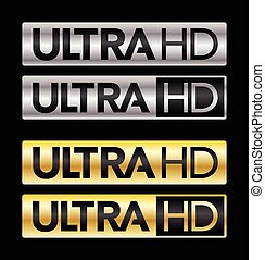 Ultra HD - Differents Ultra HD logos norm for television