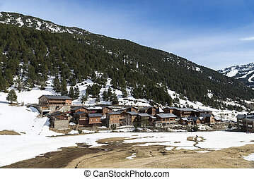 snowy mountains in Andorra la Vella