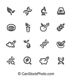 GMO Icons - Simple Set GMO Related Vector Icons for Your...