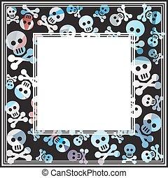 skull and bones dark border