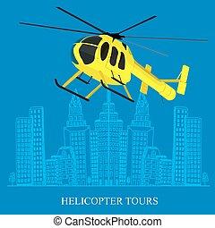 Helicopter tour concept - helicopter tour concept, sketch...