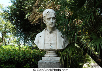 Bust of Domenico Temple at Villa Bellini in Catania