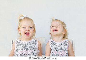 Twins Having Fun