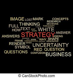 Word Cloud design with word strategy