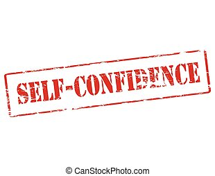 Self confidence - Rubber stamp with text Self confidence...