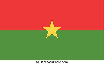 Flag Of Burkina Faso - Burkina Faso flag vector illustration...