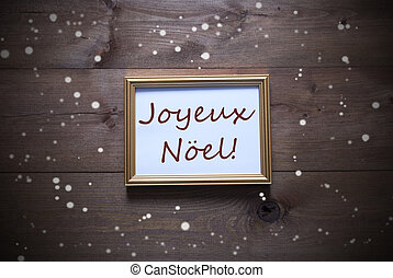 Picture Frame With Joyeux Noel Means Merry Christmas,...