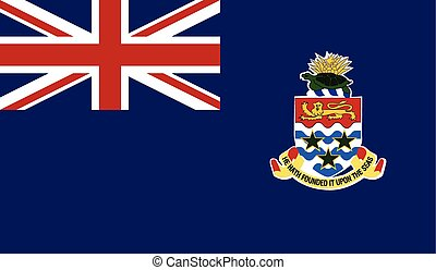 Flag of Cayman Islands - Cayman Islands flag vector...