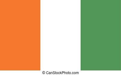 Flag of Cote de Ivoire - Cote de Ivoire flag vector...