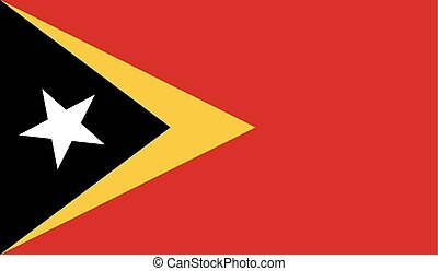 Flag of East Timor - East Timor flag vector illustration...
