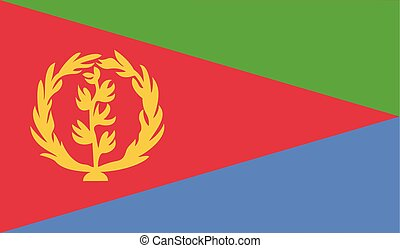 Flag of Eritrea - Eritrea flag vector illustration created...