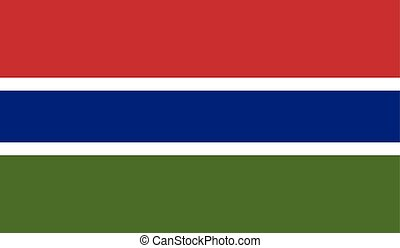 Flag of Gambia - Gambia flag vector illustration created EPS...