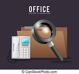 Office stuff design - Office stuff digital design, vector...