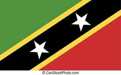 Flag of Saint Kitts and Nevis - Saint Kitts and Nevis flag...