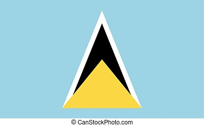 Flag of Saint Lucia - Saint Lucia flag vector illustration...