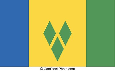 Flag of Saint Vincent and the Grenadines - Saint Vincent and...